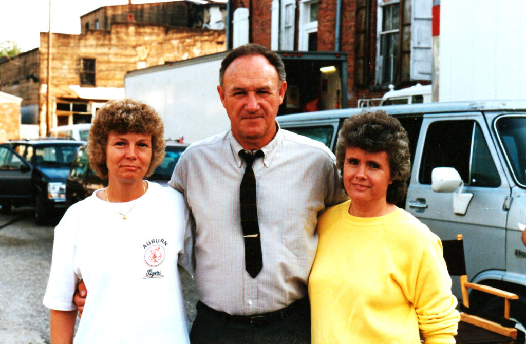 """When """"Mississippi Burning"""" was filming in LaFayette, my aunt Linda Davis and my mother Brenda Potts met Gene Hackman during one of his breaks from filming. SUBMITTED by Regina Sanders, Lanett."""